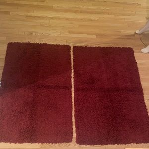 2 curly shag rugs from Home outfitters
